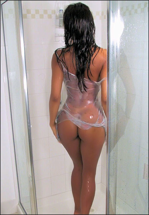 wet ass shower sex latina